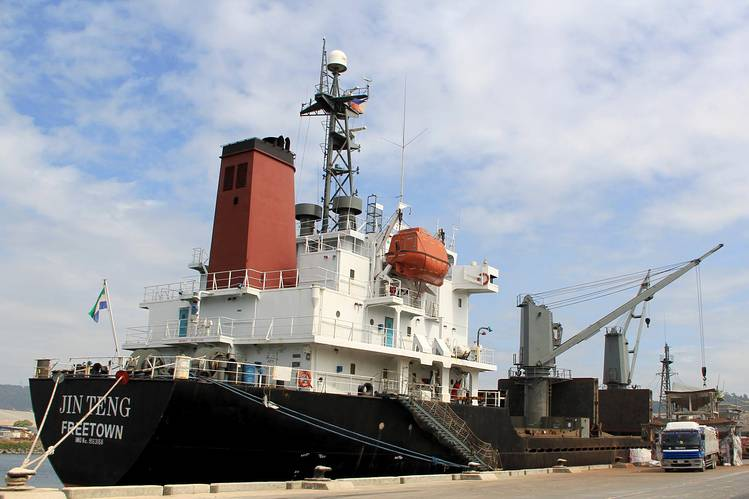 North Korean Cargo Vessel Jin Teng Subic Bay Phillipines, March 4 2016 AP.jpg