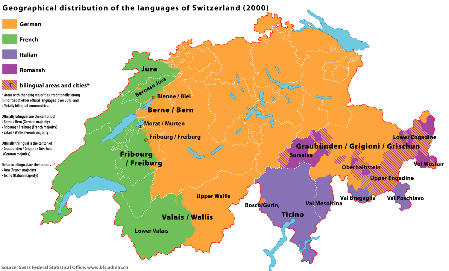 Multi-lingual Switzerland