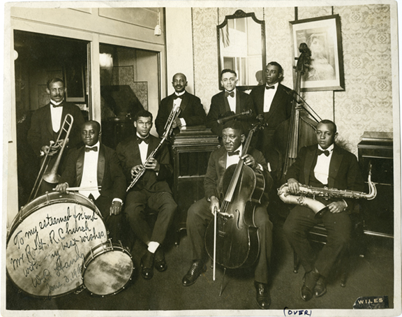 William Christopher (W. C.) Handy and his Memphis band. (1918). Courtesy of Preservation & Special Collections Dept., University Libraries, University of Memphis