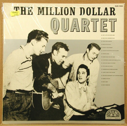 33rpm record album, Million Dollar Quartet, released 1981