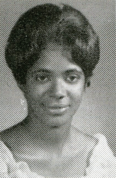 Carla Thomas, 1964, taken from the Tennessee A & I University (later Tennessee State) Tennessean yearbook.