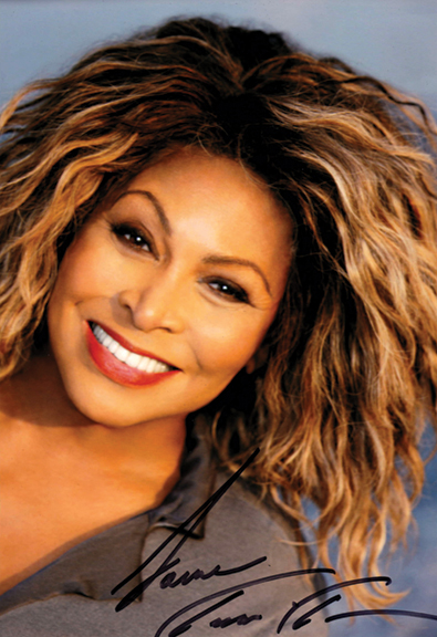 Nutbush, Tennessee native Tina Turner, 2008 Courtesy of the West Tennessee Delta Heritage Center/Tina Turner Museum