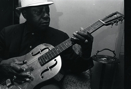 Memphis delta blues artist Bukka White, 1967. <br>Photograph by F. Jack Hurley, 2011.2014